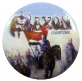 Saxon - 'Crusader' Button Badge